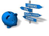 Piggybank Investment — Stock Photo