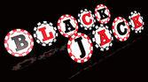 Blackjack Sign Chips — Stock Photo