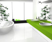Badezimmer grün — Stockfoto