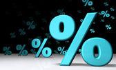 Sky-blue Percent Invasion — Stock Photo