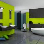 zielony łazienka — Zdjęcie stockowe #9889453