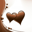 Hearts Illustration. Vector Background. - Stockvektor