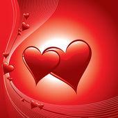 иллюстрация сердца. векторный фон. — Cтоковый вектор