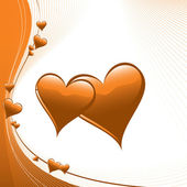 Hearts Illustration. Vector Background. — Stock Vector
