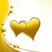 Srdce ilustrace. vektorový pozadí. — Stock vektor