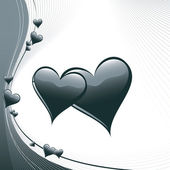 Hearts Illustration. Vector Background. — 图库矢量图片