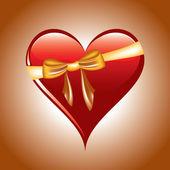 Heart Illustration. Vector Background. — Stock Vector