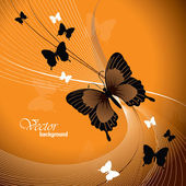 Illustrazione di farfalla. sfondo vettoriale. — Vettoriale Stock
