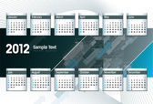 2012 Calendar. Vector Illustration. Eps10. — Stock Vector