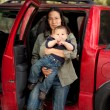 Traveling with a baby — Stock Photo #10638059