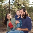 Family enjoying a day in nature — Stock Photo