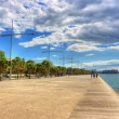 New beach in Thessaloniki Greece — Stock Photo #10316805