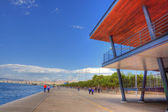 New beach in Thessaloniki Greece — Stock Photo