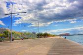 New beach in Thessaloniki Greece — Stock Photo