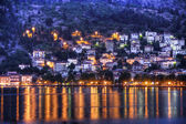 Full moon over Kastoria city. Macedonia Greece — Stock Photo