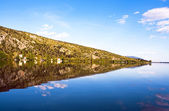 Mountain lake reflections — Stock Photo