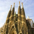Sagrada Familia vertical panoramic view — Stock Photo #9679760