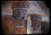 Rusty screws — Stock Photo
