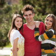 Two girls and a boy — Stockfoto