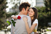 Romantic young lovers — Stock Photo