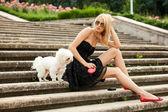 Parco di moda donna — Foto Stock