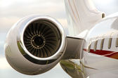 Jet Engine on a Private Plane - Bombardier — Stock Photo