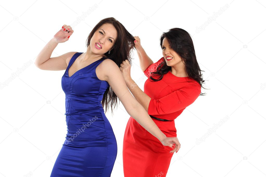 Girls fight with