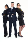 An image of a business standing to each other - isolated — Stock Photo