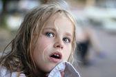 Portrait of funny lovely little girl — Stock Photo