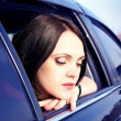 Woman Sitting In Car — Stock Photo #9551222