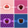 Stock Vector: Cupcake vintages