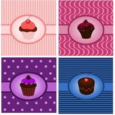 Cupcake vintages — Stock Vector