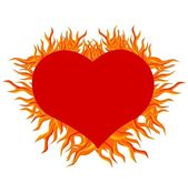 Fire heart — Stock Vector