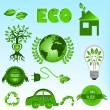 Eco icons set — Stockvector #9260823