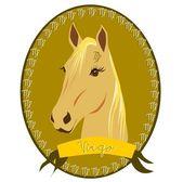 Horse zodiac - Virgo — Stock Vector