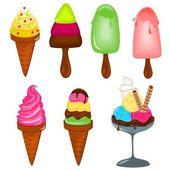 Ice creams — Stock Vector