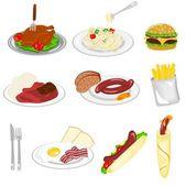 Set of food — Stock Vector