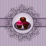Cupcakes vintage — Stock Vector #9474763