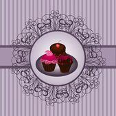 Cupcakes-vintage — Stockvektor