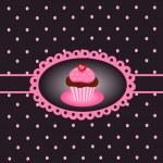 Cupcake vintage — Stock Vector #9825745