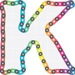 Letter k — Stock Vector
