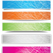 Royalty-Free Stock Vector Image: Colorful banners with different shadow