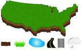 American map — Stock Vector