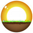 Sunshine ball — Stock Vector