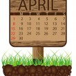 Calendar banner april - Stock Vector