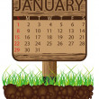 Calendar banner january - Stock Vector