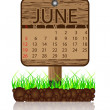 Calendar banner june - Stock Vector