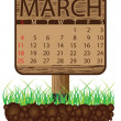 Calendar banner march - Stock Vector
