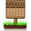 Calendar march - Stock Vector