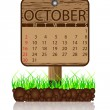 Calendar banner october - Stock Vector
